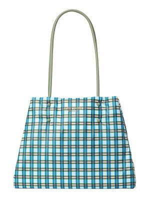 Kate Spade New York everything puffy plaid large tote