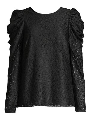 Kate Spade New York flora puff-sleeve lace blouse