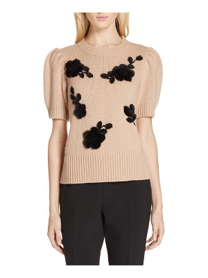 Kate Spade New York floral applique sweater