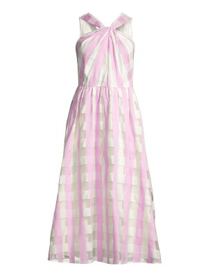 Kate Spade New York gingham organza midi dress