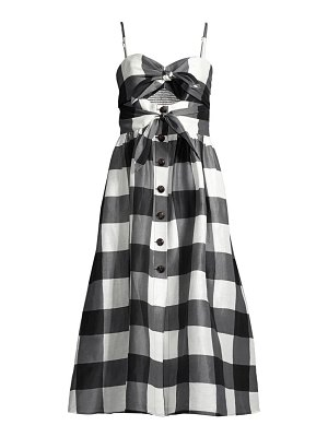 Kate Spade New York gingham tie-front midi dress