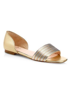 Kate Spade New York henley metallic leather flat sandals