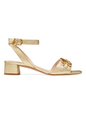 Kate Spade New York lagoon heart chain metallic leather sandals