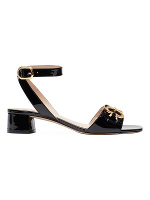 Kate Spade New York lagoon heart chain patent leather sandals