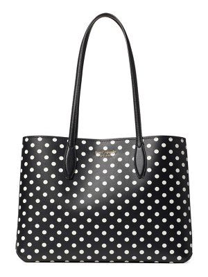 Kate Spade New York large all day polka dot tote
