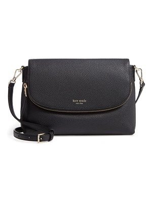 Kate Spade New York large polly leather crossbody bag