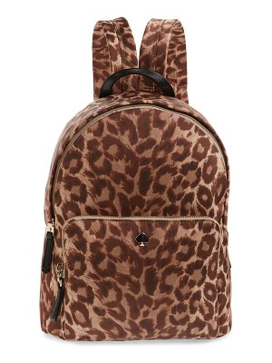 Kate Spade New York large taylor leopard nylon backpack