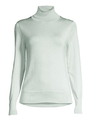 Kate Spade New York metallic knit turtleneck pullover