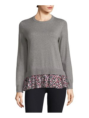 Kate Spade New York mixed media sweater
