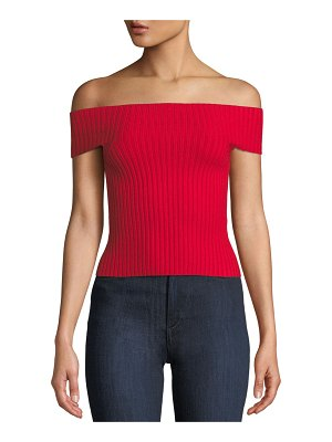 Kate Spade New York off-the-shoulder cropped sweater