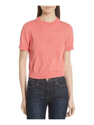 Kate Spade New York pineapple textured sweater