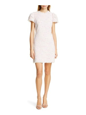 Kate Spade New York puff sleeve tweed dress