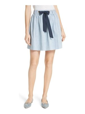 Kate Spade New York railroad stripe denim skirt