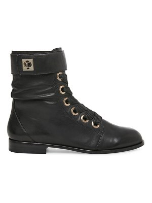 Kate Spade New York ruby leather combat boots