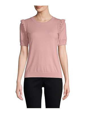Kate Spade New York ruffle short-sleeve sweater