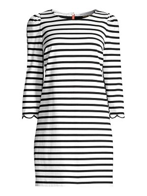 Kate Spade New York sailing striped scalloped dress