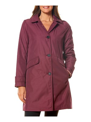Kate Spade New York single-breasted hooded trench