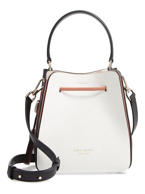 Kate Spade New York small busy leather bucket bag