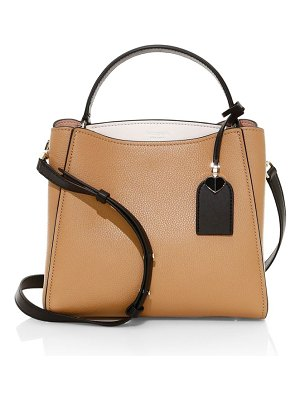 Kate Spade New York small fleur leather top handle satchel