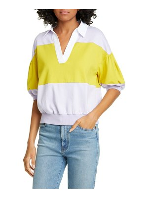 Kate Spade New York stripe polo knit tee