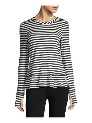 Kate Spade New York striped ruffle pullover