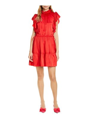 Kate Spade New York tiered high neck silk blend dress