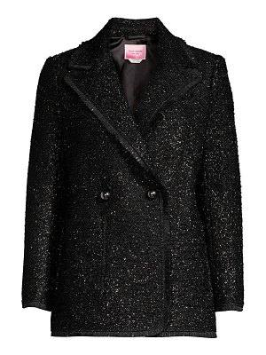 Kate Spade New York tinsel tweed double breasted blazer