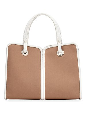 Kate Spade New York two-tone medium canvas satchel bag