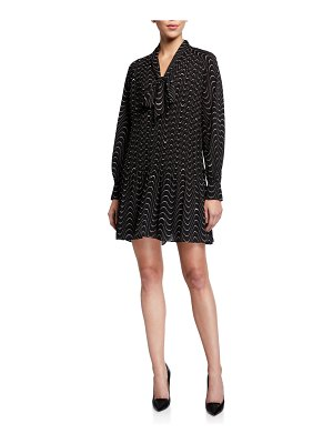 Kate Spade New York wavy dot long-sleeve mini shift dress