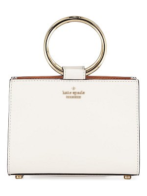 Kate Spade New York white rock road sam mini leather ring-handle bag