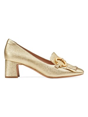 Kate Spade New York yarrow fringe metallic leather loafers