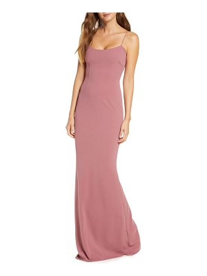 Katie May forget me knot cutout column gown