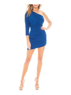 Katie May kaite may one-shoulder ruched minidress