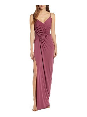 Katie May ruched side drape evening dress