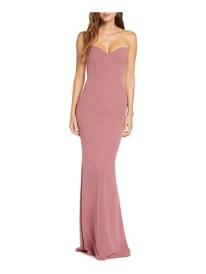 Katie May strapless cutout back mermaid gown