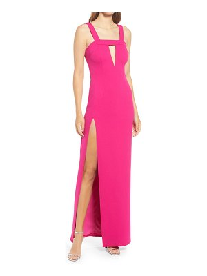 Katie May take the plunge stretch crepe column gown