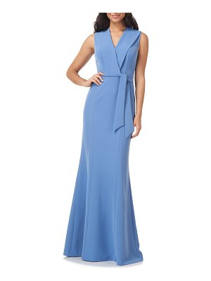 Kay Unger cecily belted sleeveless gown