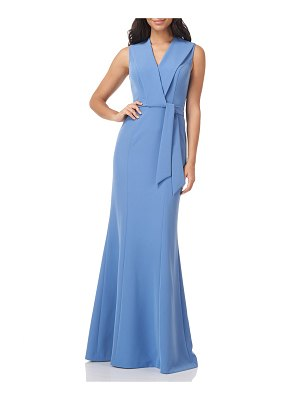 Kay Unger Cecily V-Neck Gown