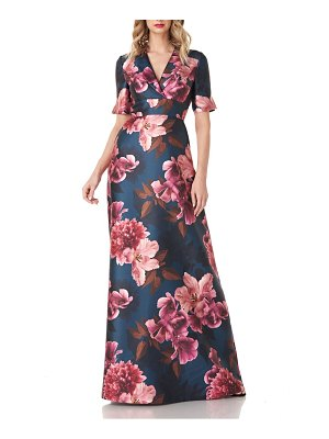 Kay Unger jessica floral mikado gown