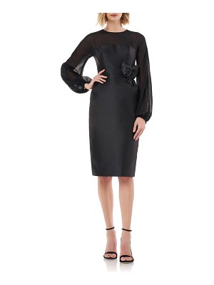 Kay Unger long sleeve body-con sheath
