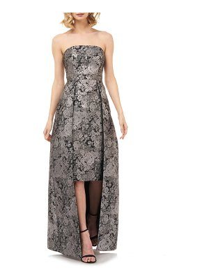 Kay Unger paloma strapless jacquard gown