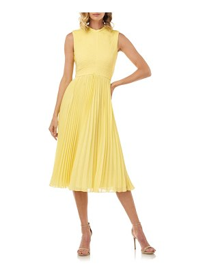 Kay Unger pleated chiffon cocktail dress