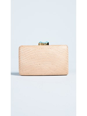 Kayu jen clutch with natural stones