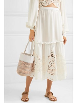 Kayu lucie leather and straw tote