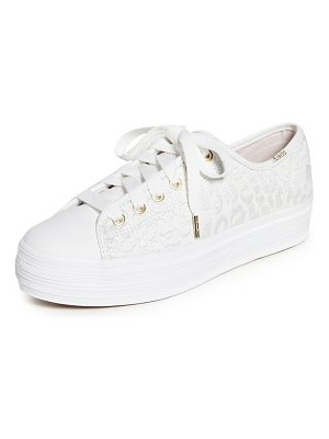 Keds x kate spade triple kick embroidered leopard sneakers
