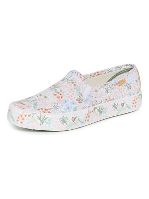 Keds x rifle paper co. double decker meadow cream sneakers