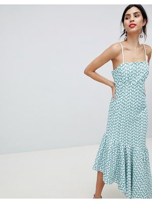 Keepsake broderie maxi dress with fluted hem