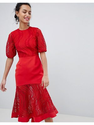 Keepsake lace midi dress