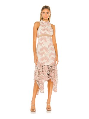 Keepsake no air lace midi dress