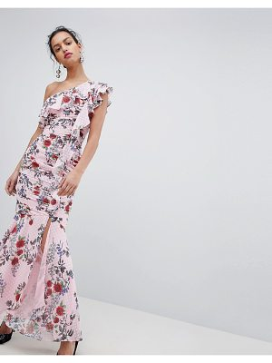 Keepsake one shoulder floral maxi dress
